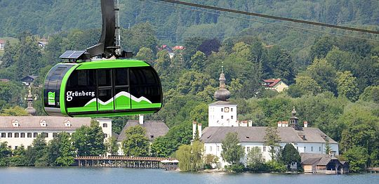 Grünberg cable car and Schloss Orth castle
